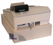 Sharp XE-A307 bakifrån